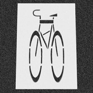 Bicycle Road Stencil