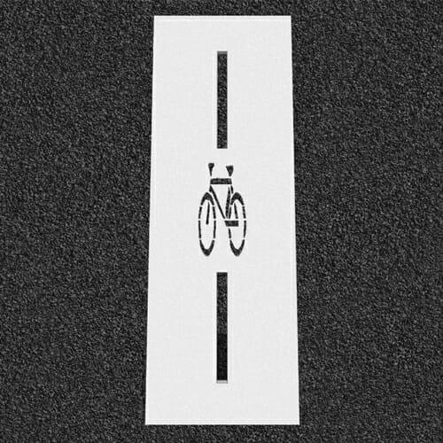 Bike Detection Symbol Stencil
