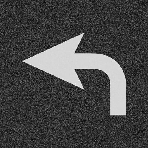Bike Turn Arrow Stencil