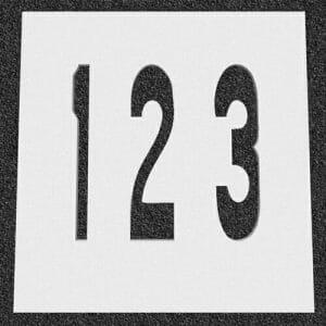 Number-Traffic-Stencils
