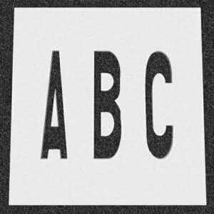 Canadian Traffic Letter Stencils
