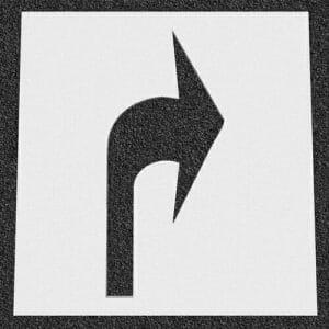 Canadian Turn Arrow Plastic Stencil