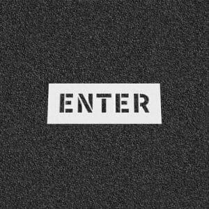 Enter Plastic Stencil