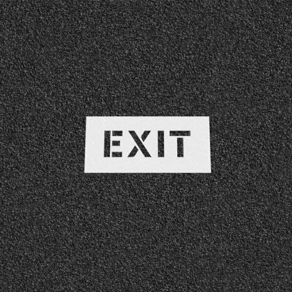 Exit Plastic Stencils