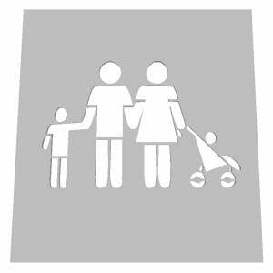 Family Friendly - Family 10 Stencil