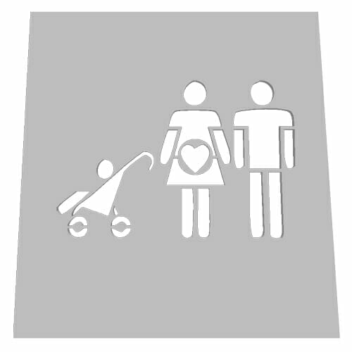 Family Parking Lot Stencil - Family 20