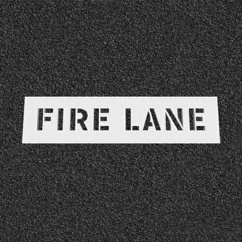 Fire Lane Plastic Stencil