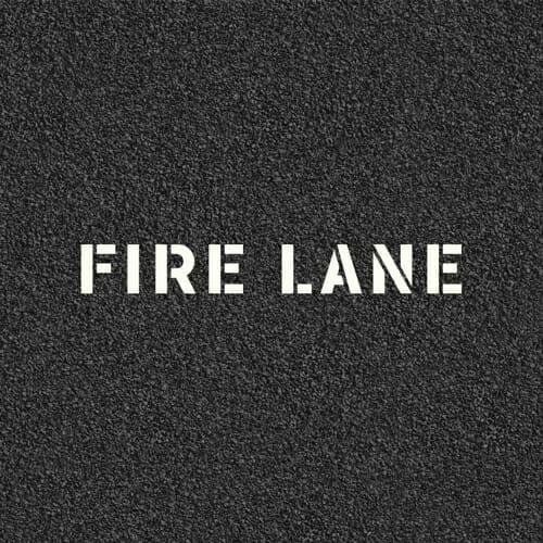Fire Lane Stencils