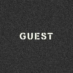 Guest Pavement Stencil