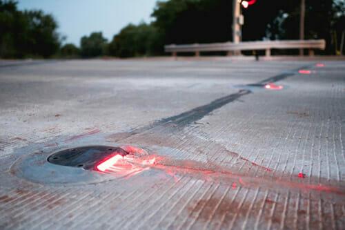 In Road Warning Lights