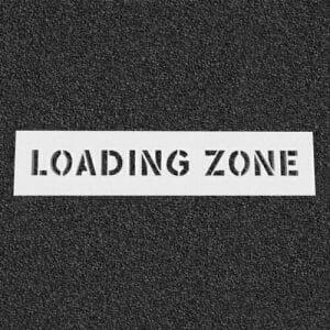 Loading Zone Plastic Stencil