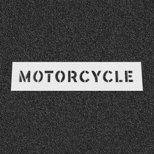 Motorcycle Plastic Stencil