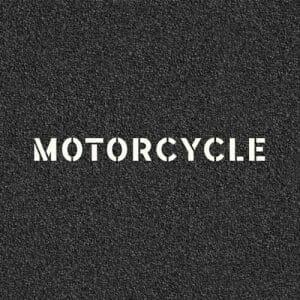 Motorcycle Road Stencil