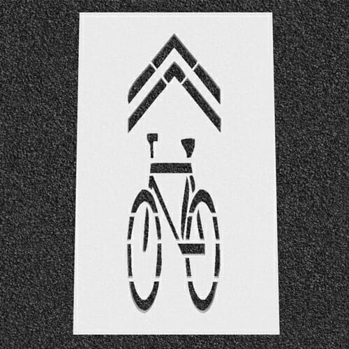 Sharrow Traffic Stencil