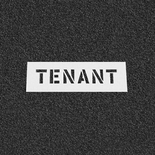 Tenant Plastic Stencil
