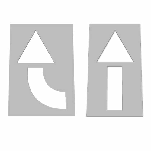 2pc. Arrow Stencil Kit