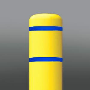 Bollard Covers Blue Stripe