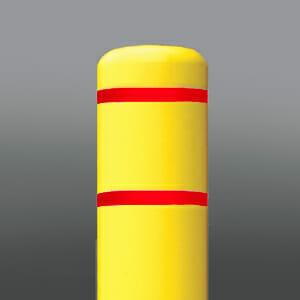 Bollard Cover Red Stripe