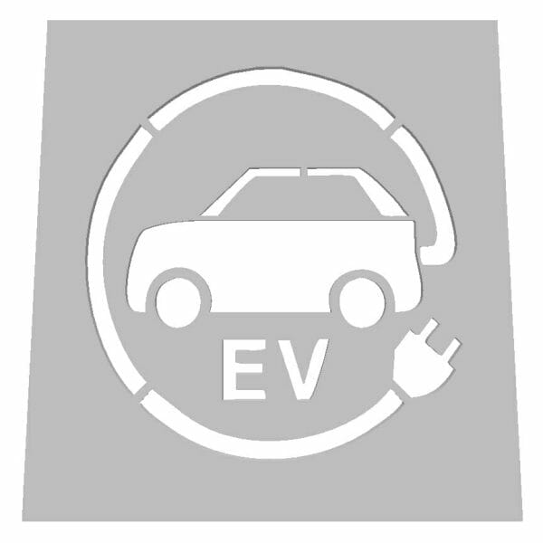 Electric Vehicle Road Stencil - V10