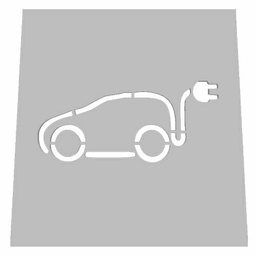 Electric Vehicle Road Asphalt Stencil