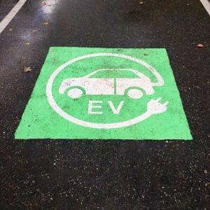 Electric Vehicle Parking Stencils