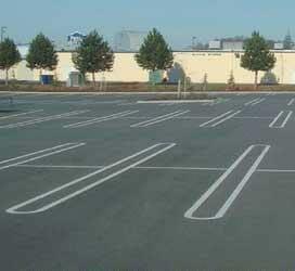 End Cap Stencil For Double Line (Costco Parking)