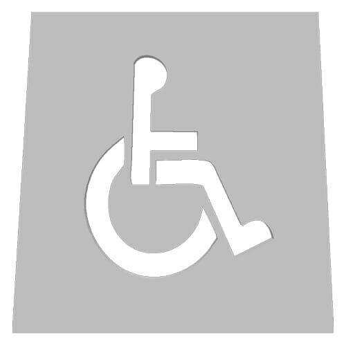 Handicap Stencil - Disability 20