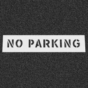 No Parking Plastic Stencil