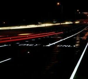 3M Traffic Tape at Night