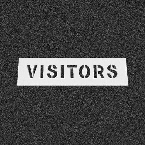 Visitors Plastic Stencil