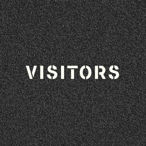 Visitors Pavement Stencil
