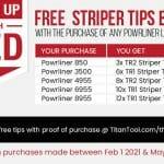Titan Free Striping Tips Promo